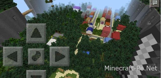 Карта Небольшой городок для Minecraft Pe]