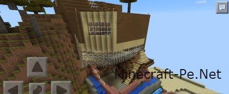 Дом на горе - Карта для Minecraft PE 0.10.5