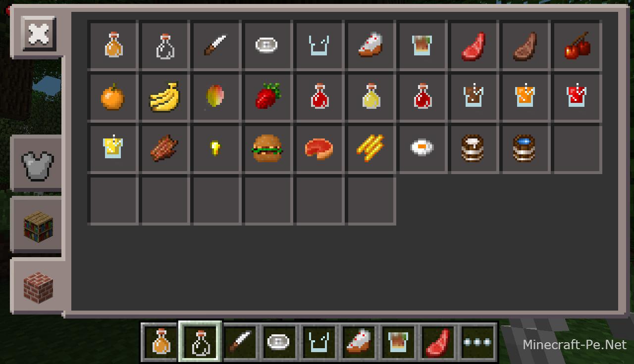 Мод More Foods для Minecraft PE 0.10.5