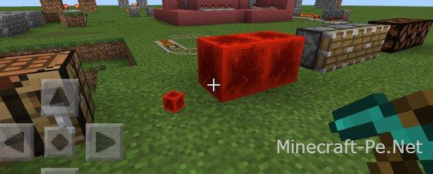 Мод Блок рэдстоуна для Minecraft PE 0.10.5