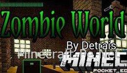 Карта Zombie World для Minecraft PE 0.10.5