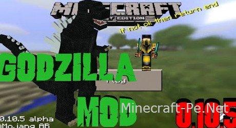 Мод годзилла для Minecraft PE 0.10.5