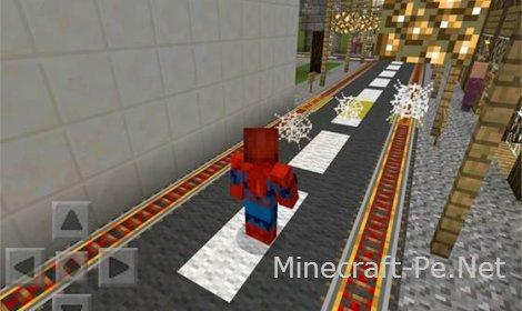 Скрипт Spider-Man для Minecraft PE 0.10.5