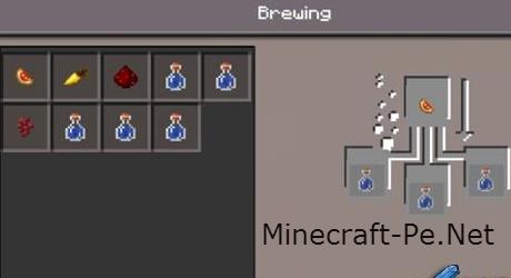 Мод зелье-варение для Minecraft PE 0.11.0