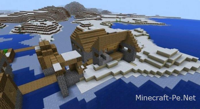 Сид Gliched Ice Village для Minecraft PE 0.12.1