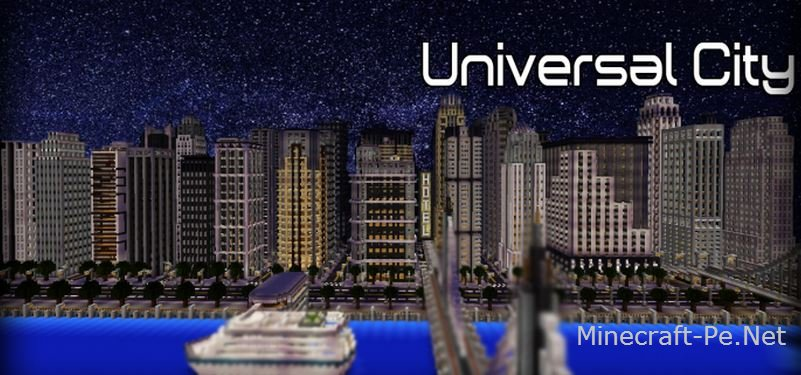 Карта Универсальный город для Minecraft PE]