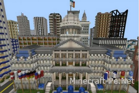 Карта Универсальный город для Minecraft PE