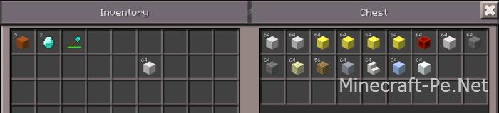 Мод на сортировку вещей в инвентаре MCPE 0.12.1