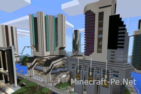 Карта Футуристический город для Minecraft PE