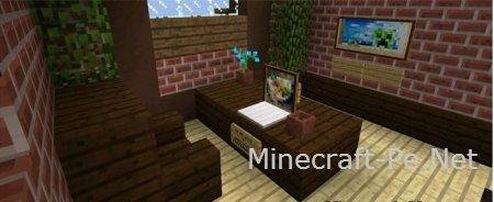 """Карта """"Уютный особняк"""" на minecraft pe 0.13.1"""