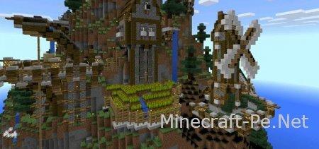 Карта деревни в средневековом стиле