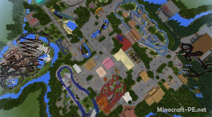 Карта Thorpe Park (Парк аттракционов)