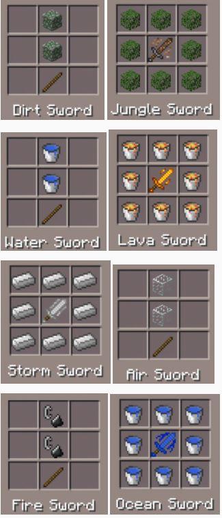 Мод Elemental Swords [1.2.10] [1.2]