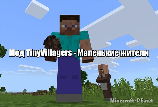 Мод TinyVillagers [1.6] [1.5] (Маленькие жители)