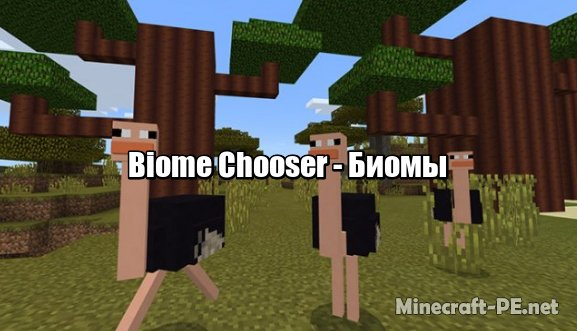 Мод Biome Chooser [1.6] [1.5] (Биомы)]