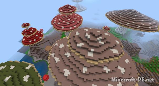 Карта Mushroom Island 1.11/1.10 (Выживание)