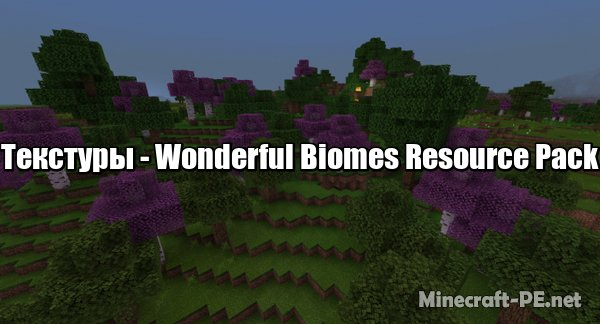 Текстуры Wonderful Biomes Resource Pack 1.10 (х32)]