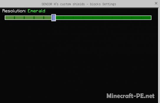 Текстуры SENIOR H's Custom Shields: Blocks 1.12/1.11/1.10 (Замена щитов на кастомные)