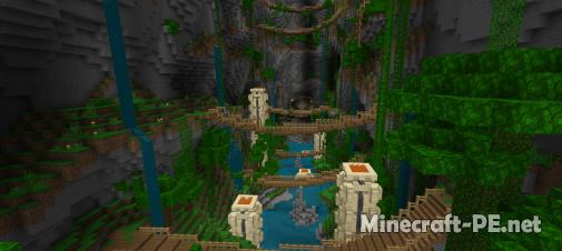 Карта Minecraft Elytra Race! Temple Glide 1.8/1.9 (Мини-игра)