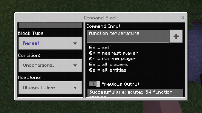 Мод Temperature 1.14/1.13 (Температура)