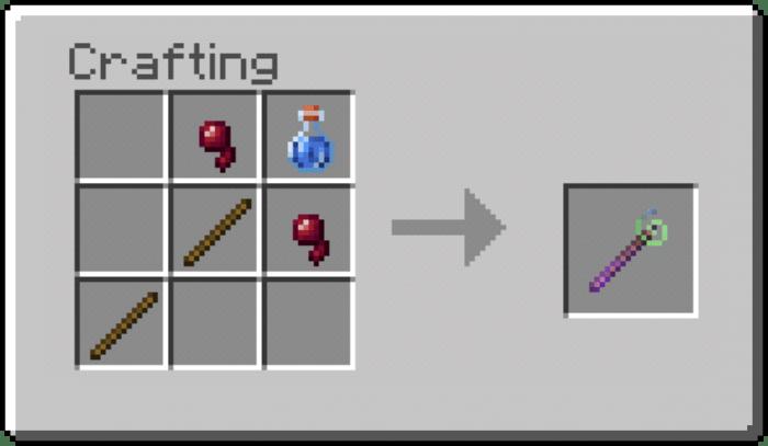 Мод Effect Sticks 1.14-1.13 (Посохи с эффектами)