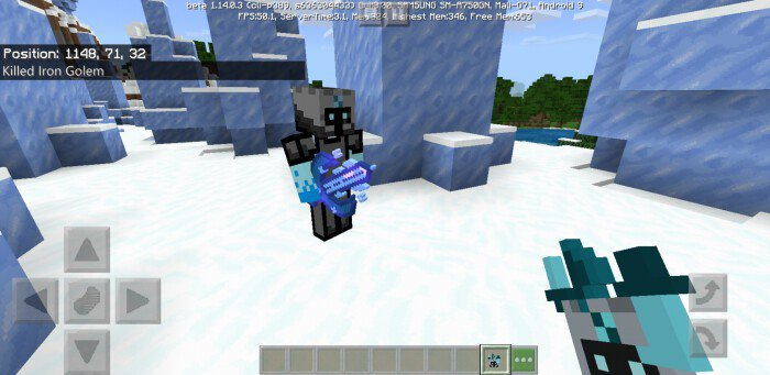 Мод Ice Warrior Boss 1.14/1.13 (Новые мобы, боссы и оружие)