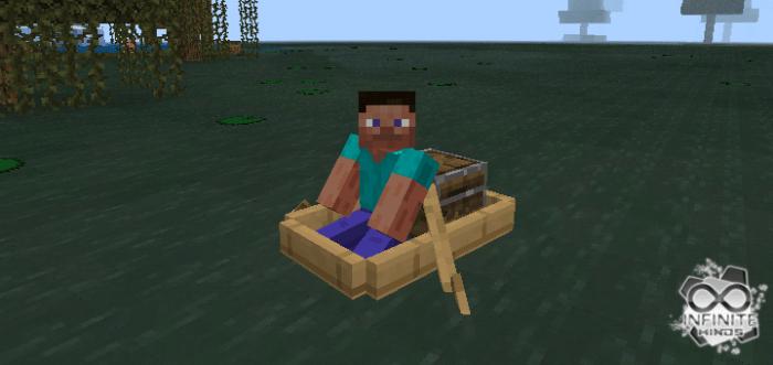 Мод Swamp Boat 1.14/1.13 (Лодка с сундуком)]