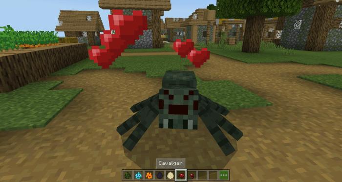 Мод Mountable Spiders 1.13 (Ездовые пауки)]