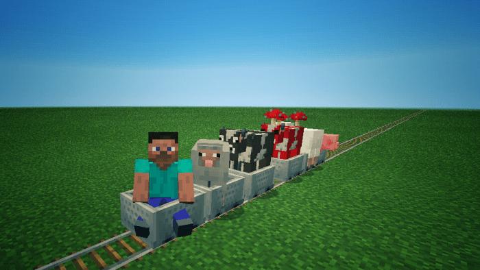 Мод Trains! 1.13/1.12 (Поезда)]