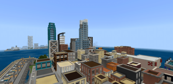 Карта Mine York City 1.14/1.13 (Мегаполис)