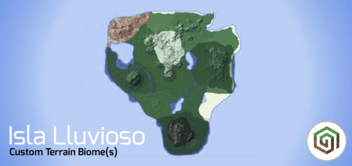 Карта Isla Lluvioso 1.10+ (Большой остров)