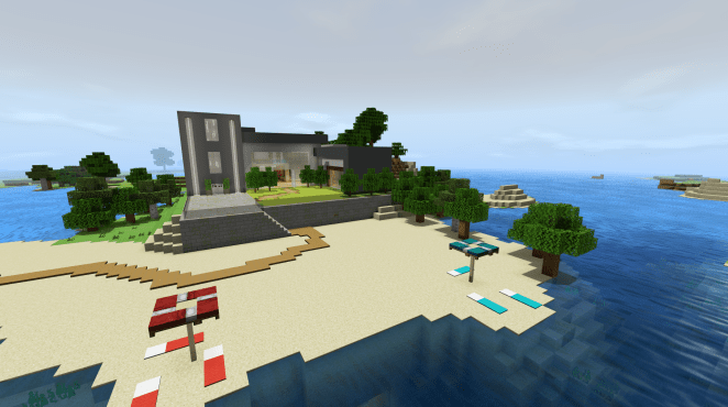 Карта Beachside Villa | Modern House (Постройка)]