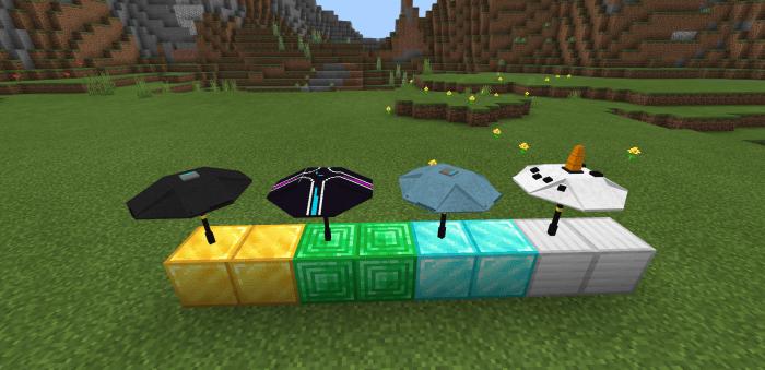 Мод  Fortnite Umbrella 1.16 (Зонтики из Fortnite)