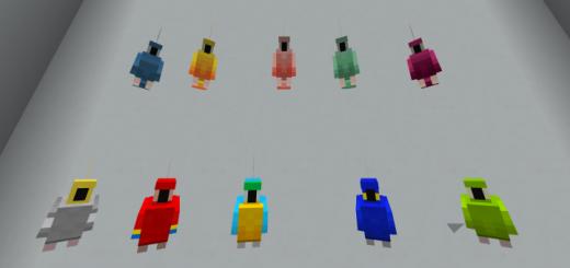 Мод ItzWaffles21 Parrot Expansion 1.16 (5 новых попугаев)
