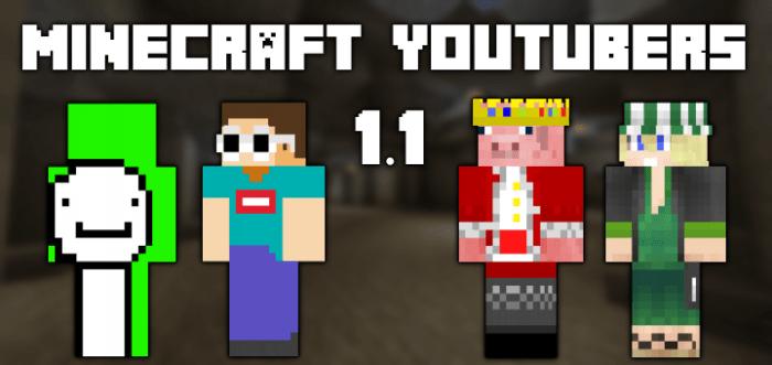 Скинпак Minecraft YouTubers 1.1]