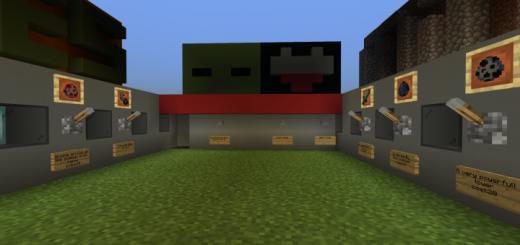 Карта Minecraft VS Zombies (Майнкрафт против зомби)]