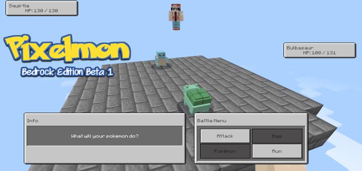 Мод Pixelmon BE Combat System 1.16 (Pokemon в Майнкрафт)