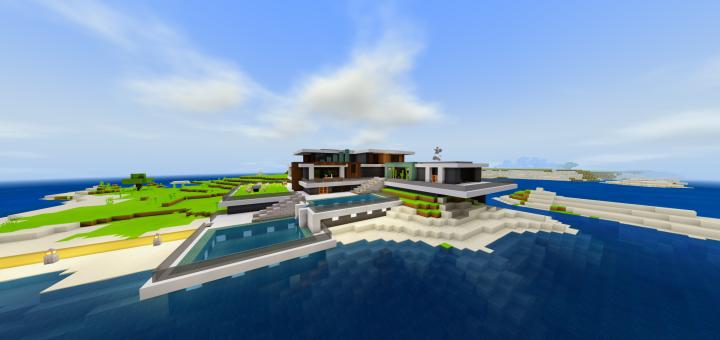 Карта Seaside Modern House 1.16 (Современный дом-яхта)]