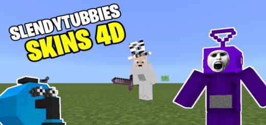 Мод Slendytubbies Skins 4D (Новые скины в 4D)