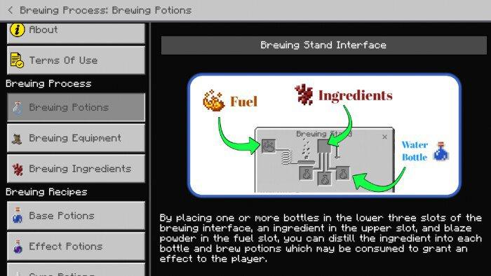 Мод Brewing Guide 1.16 (Создание зелий)