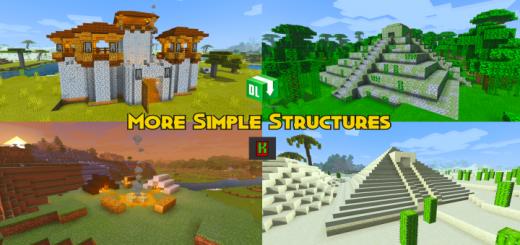 Мод More Simple Structures v2.1 - 1.16 (30 новых естественных локаций)]