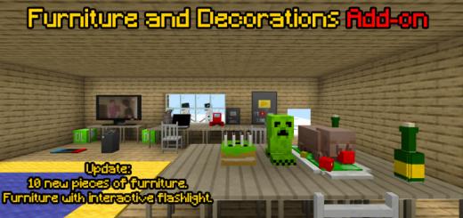 Мод Furniture and Decorations 1.16 (Новая мебель и декор)