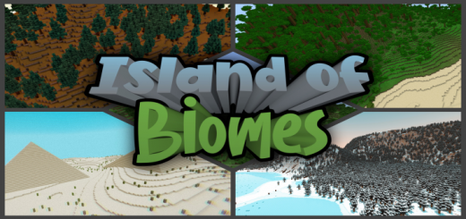 Карта Island of Biomes (Остров биомов)]