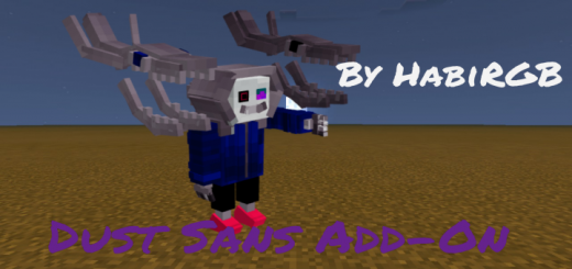 Мод HabiRGB Dust Sans 1.16/1.15 (Новый персонаж)]