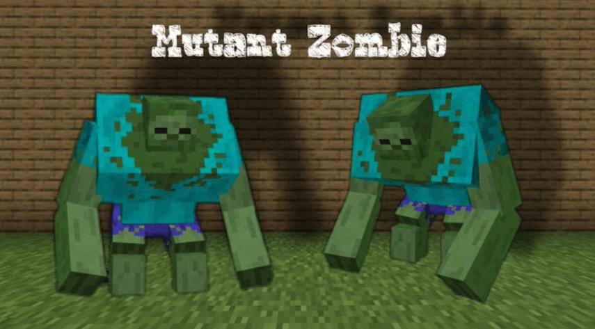 Мод Play Minecraft As Mutant Zombie?! 1.16 (Мутант зомби)]