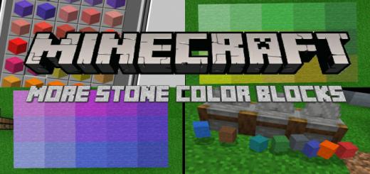 Мод More Stone Colors 1.16 (Цветные блоки)]