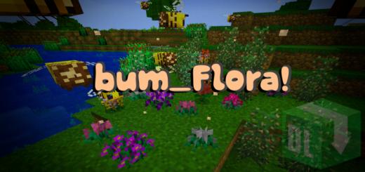 Мод bum_Flora! 1.16 (Новые цветы и растения)]