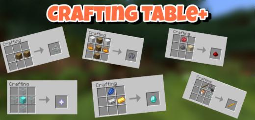 Мод Crafting Table 1.16 (Новые рецепты крафта)]