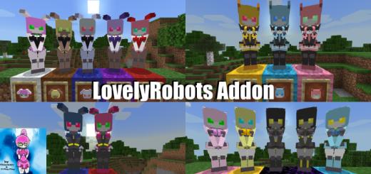 Мод LovelyRobotsPE 1.16 (4 типа роботов)]